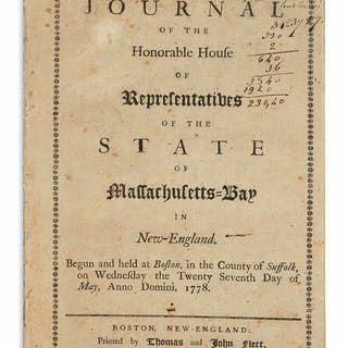(AMERICAN REVOLUTION--1778.) A Journal of the Honorable...