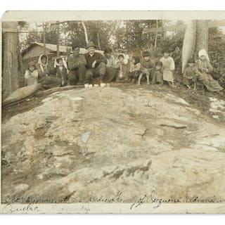 (AMERICAN INDIANS--PHOTOGRAPHS.) Photograph of an...