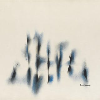 NORMAN LEWIS (1909 - 1979) Untitled (Composition in Blue and Black)