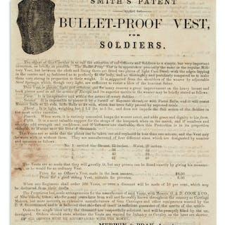 (CIVIL WAR.) Smith's Patent (Applied for) Bullet-Proof Vest