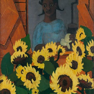 WALTER WILLIAMS (1920 - 1988) Sunflower Girl