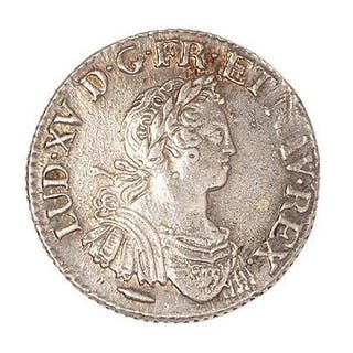 Louis XV (1715-1774) Quart d'écu aux 8L 1725 X. Dup. : 1672. TTB à