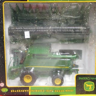 Britains model farm vehicles in boxes, 1:32 scale, including tractors