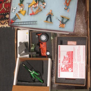 Diecast painted model farm toys by G & M Models, boxed, including