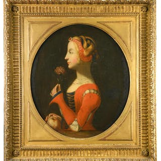 Italian School, late 17th - early 18th Century Portrait of Petrarch's