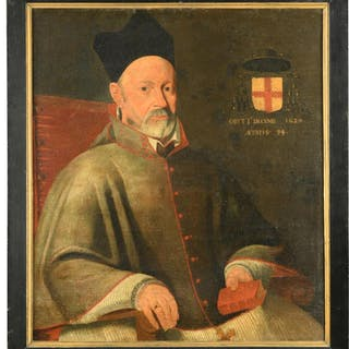 French School, 17th Century Portrait of Antonius de Hennin, Bishop