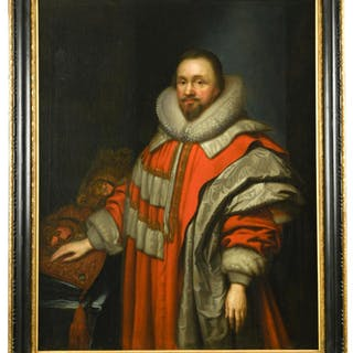 Studio of Cornelius Johnson, 17th Century Portrait of Sir Thomas Coventry