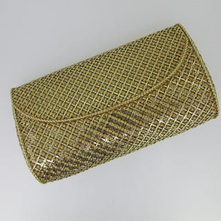 Carl Bucherer - A lady's bi colour mesh style evening clutch bag