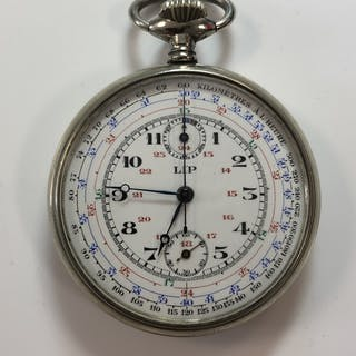 Lip - An open faced pocket watch / chronograph / tachymeter, according