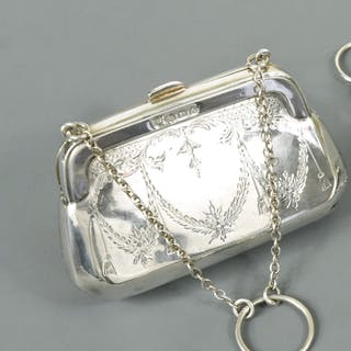A George V silver dance purse, by the Boots Pure Drug Company, Birmingham