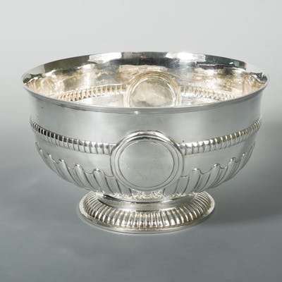 A Victorian silver punchbowl, by Charles Stuart Harris, London 1890