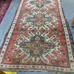 Antique Caucasian Kazak Rug 285 X 143cms