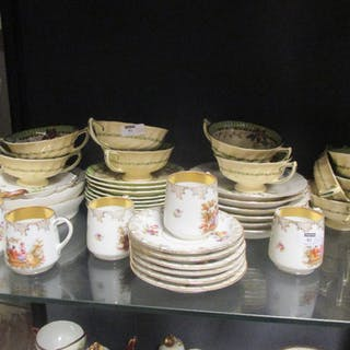A small collection of Copenhagen Saxon Flower pattern wares, together