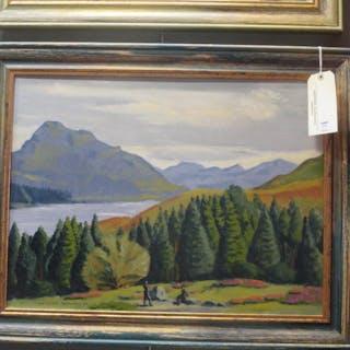 Christopher Tombleson (British, 1902-1988) 'Highland Loch Scene'