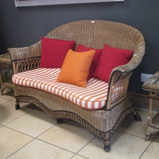 An 11 Piece Suite of 20th Century Liberty of London Rattan Furniture