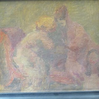 Edward Wakeford, ARA (British, 1914-1973), The Conversation , oil
