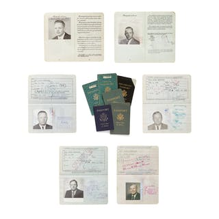 NEIL ARMSTRONG. A COLLECTION OF ARMSTRONG'S US PASSPORTS