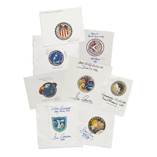 [APOLLO PROGRAM]. A COLLECTION OF SIGNED BETA CLOTH EMBLEMS, WITH