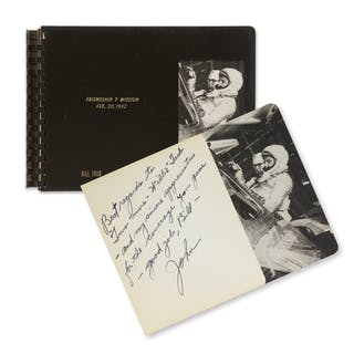[PROJECT MERCURY]. FRIENDSHIP 7 AND AURORA 7 PHOTO BOOKS, INSCRIBED