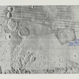 [APOLLO 11]. LM ASCENT MONITORING CHART, SIGNED AND INSCRIBED BY BUZZ ALDRIN