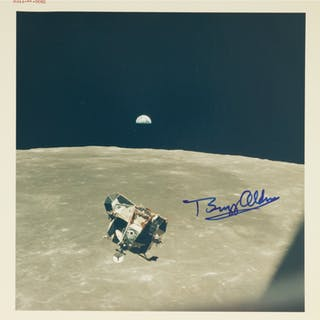 "APOLLO 11. VINTAGE NASA ""RED NUMBER"" PHOTOGRAPH OF EAGLE'S RETURN"