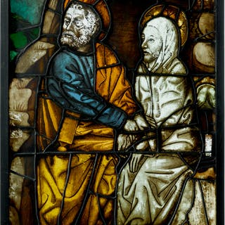 PROBABLY GERMAN, FIRST HALF 15TH CENTURY AND LATER | WINDOW PANEL