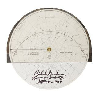 [PROJECT GEMINI]. FLOWN GEMINI XI CIRCULAR STAR CHART. ORIGINALLY