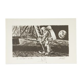 "[APOLLO 11]. PAUL CALLE. ARTIST'S PROOF OF CALLE'S ""FIRST MAN ON THE"