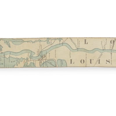 COLONEY & FAIRCHILD'S PATENT RIVER MAPS | Ribbon Map of the Father
