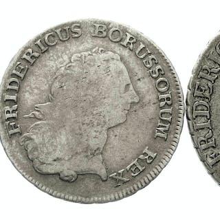 3 Münzen Friedrich der Große