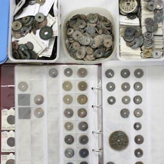 Hochinteressanter Posten altchinesischer Münzen und Amulette