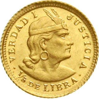 1/5 Libra (1/5 Pound) 1912 POZG
