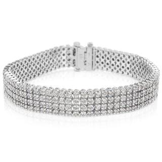 IGL Certified Diamond Tennis Bracelet in 14K White Gold (7.00 CTW)