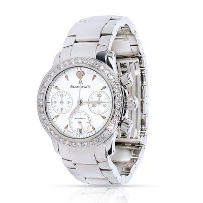 Blancpain Leman Flyback 2385F Chrononograph Women's Watch in Steel & Diamond