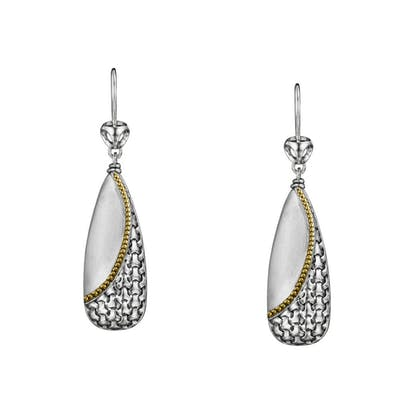 Di Modolo Ricamo Drop Earring Sterling Silver & Plated 18K Yellow Gold MSRP 795