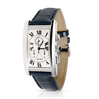 Cartier Tank Francaise W2603358 Men's Watch in 18kt White Gold