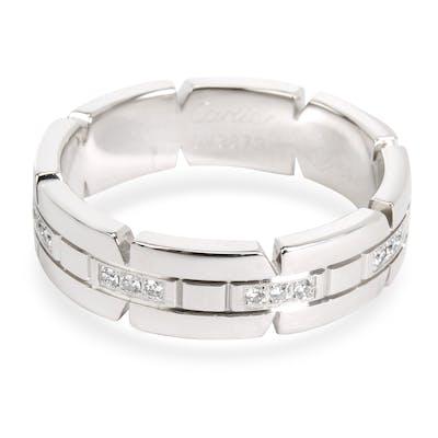 Cartier Men's Tank Francaise Diamond Band in 18K White Gold 0.05 CTW