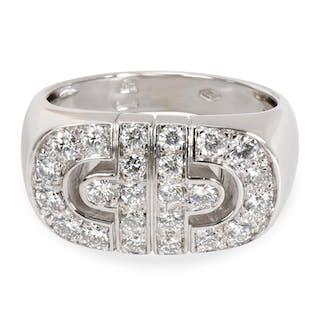 Bulgari Parentesi Diamond Fashion Ring in 18K White Gold 1 CTW