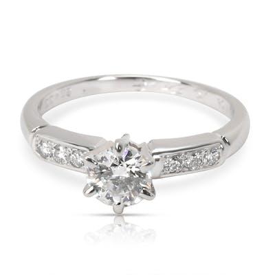 Mikimoto Certified Diamond Engagement Ring in  Platinum D VVS2 0.45 CTW