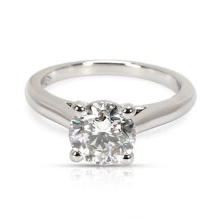 GIA Certified Cartier Diamond Engagement Ring in  Platinum H VVS1 1.31 CTW