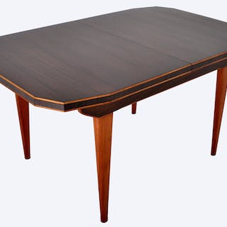 """Mid-Century Modern Dining Table in Walnut with """"Butterfly"""" Leaf, 1960s"""
