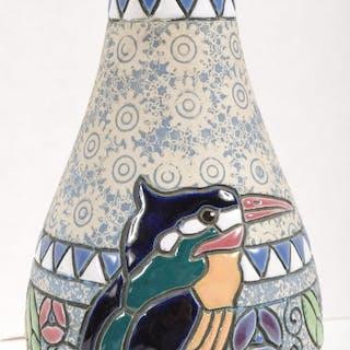 Amphora Czech Art Deco Pottery Vase, Circa 1930