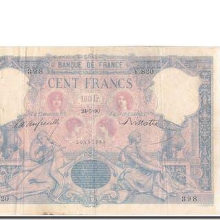 Banknote, France, 100 Francs, 100 F 1888-1909 ''Bleu et Rose'', 1890