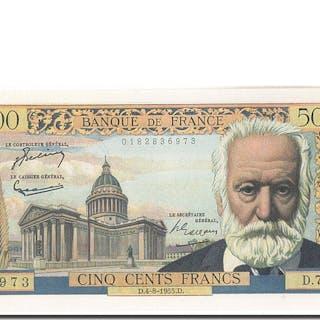 Banknote, France, 500 Francs, 500 F 1954-1958 ''Victor Hugo'', 1955, 1955-08-04