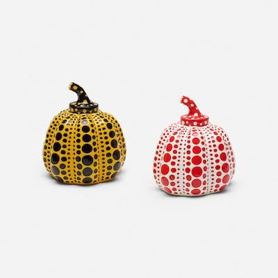 Pumpkins (set of two), 2013 - Yayoi Kusama