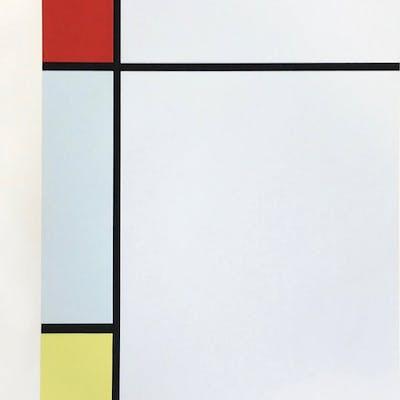 Composition rouge, jaune, bleu (set of 2), 1957 - Piet Mondrian
