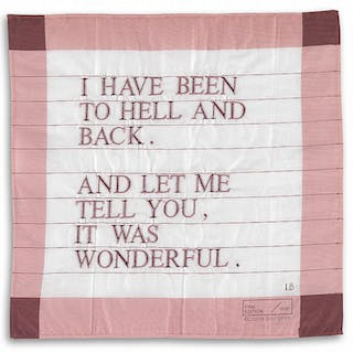 I Have Been to Hell and Back Handkerchief (pink/purple), 1996 - Louise Bourgeois