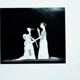 Old Rinkrank Threatens the Princess, 1969 - David Hockney