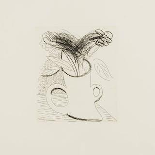 Untitled (Flowers in double-handled vase), 1982-83 - David Hockney