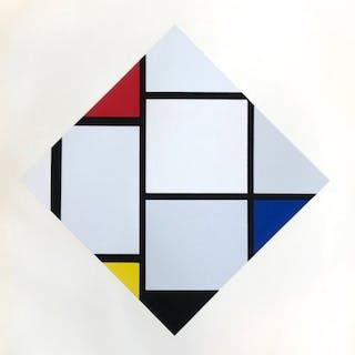 Composition rouge, jaune, bleu, 1957 - Piet Mondrian